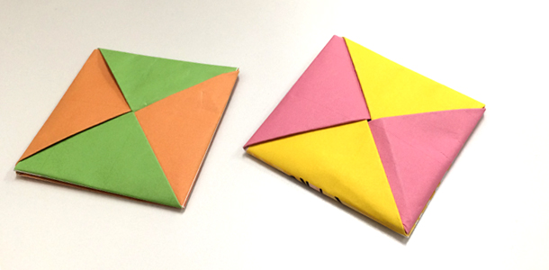 簡単 折り紙 : 折り紙 めんこ : divulgando.net
