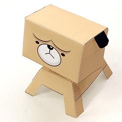 【ペーパークラフト】パグの作り方