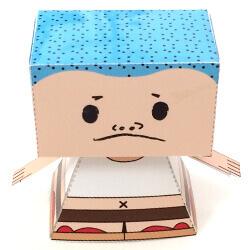 【ペーパークラフト】人形(ブン太)の作り方