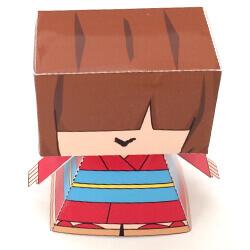 【ペーパークラフト】人形(ムー子)の作り方